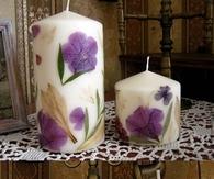 DIY Flower Candles
