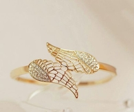 Gold wing ring