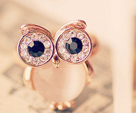 Owl diamond ring