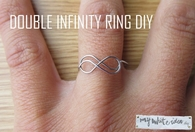 Double infinity ring diy