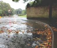 Wet autumn streets