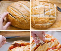 Easy Cheesy Pizza Pull Apart Bread Recipe