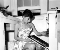 Audrey Hepburn Cooking at Home