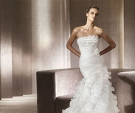 Gorgeous White Wedding Gown with Ruffles