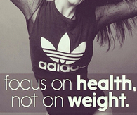 Focus on health, not on weight