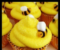 Yellow Bumble Bee Cupcakes