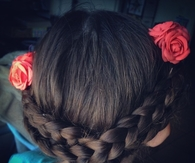 Rose braid flower crown