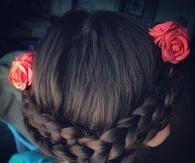 Rose braid flower crown