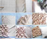 DIY Pillow with Flower Pattern