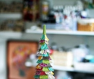 DIY Colorful Paper Christmas Tree