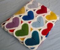 DIY Heart Baby Blankets Crochet Pattern