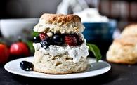 Strawberry Blueberry Vanilla Bean Shortcake