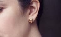 DIY Clay Gold Nugget Earrings