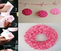 DIY Rose Paper Flowers