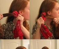DIY No Heat Curls