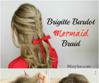 DIY Brigitte Bardot Mermaid Braid