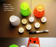 DIY Halloween Candle Cups