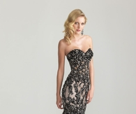 Beaded Floor Length Strapless Gown
