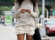 Ruffled Lace Skirt