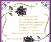 Bless you my friend...
