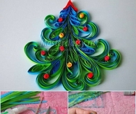 DIY Quilled Christmas Tree Cards