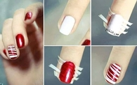 DIY Striped Nails