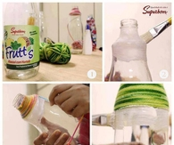 DIY Yarn Bottles Tutorial