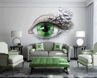 Green Eye Living Room
