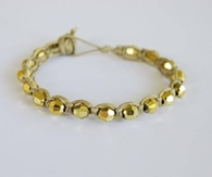 DIY Gold Beads Wristband