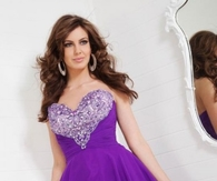 A-Line Strapless Tony Bowls Homecoming Dress