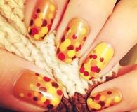 Autumn Nail Dots