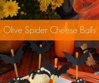 Olive Spider Cheese Balls