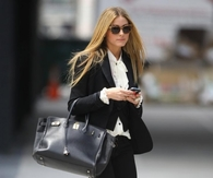 Black Blazer and Pants with White Blouse & Pumps