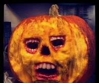 Scary Skull Jack O Lantern