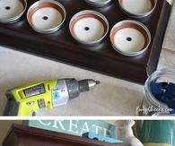 Mason Jar Storage Shelf Tutorial