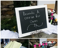 Decorate a onsie baby shower game