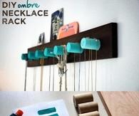 DIY Ombre Necklace Rack