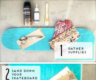DIY Skateboard Jewelry Organizer