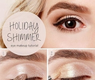 DIY Holiday Shimmer Eye Makeup