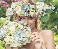 Floral Bridal Bouquet & Garland