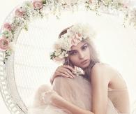 Bride with Floral Garland