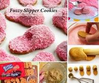 DIY Fuzzy Slipper Cookies