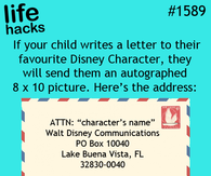 How to get Disney character autograph