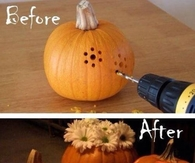 DIY Drilled Pumpkins