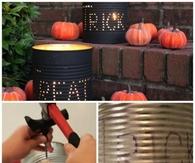 DIY Halloween Tin Can Luminaries
