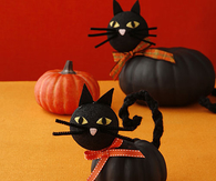 DIY Cat Pumpkins