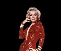 Glamorous Marilyn Monroe in Red