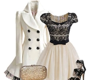 Beautiful Black & White Winter Party Outfit