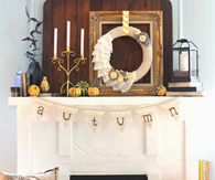 Cute Autumn Decorated Mantle