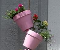 Hanging Tipsy Pots Garden